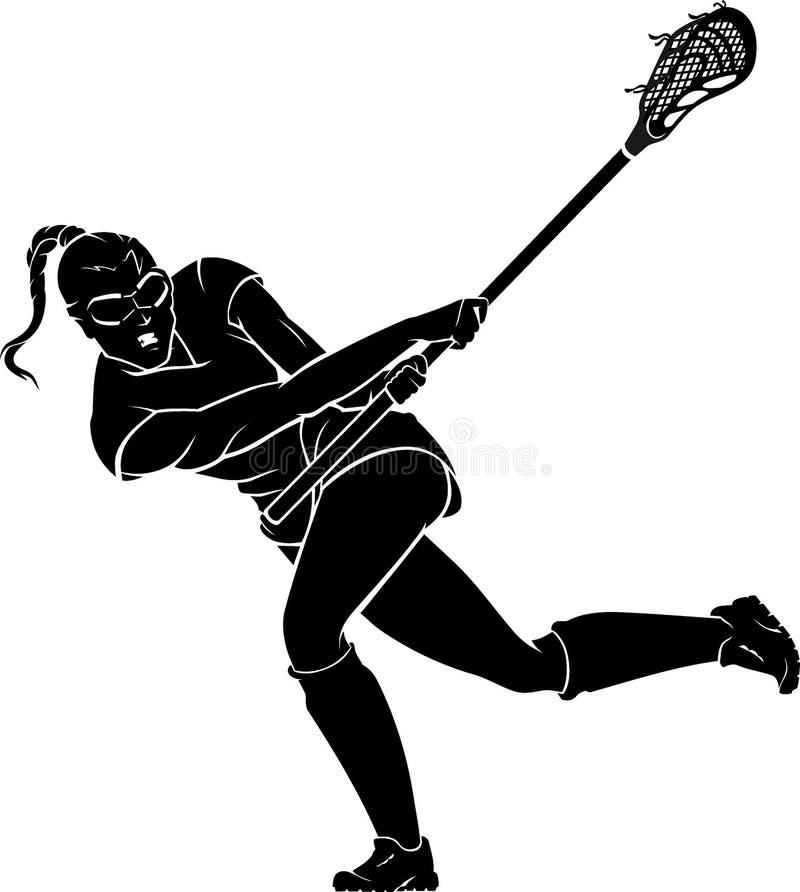 Lacrosse Women, Swing Stick royalty free illustration