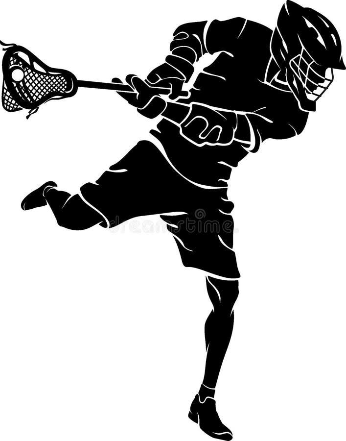 Lacrosse Player, Aim Goal royalty free illustration