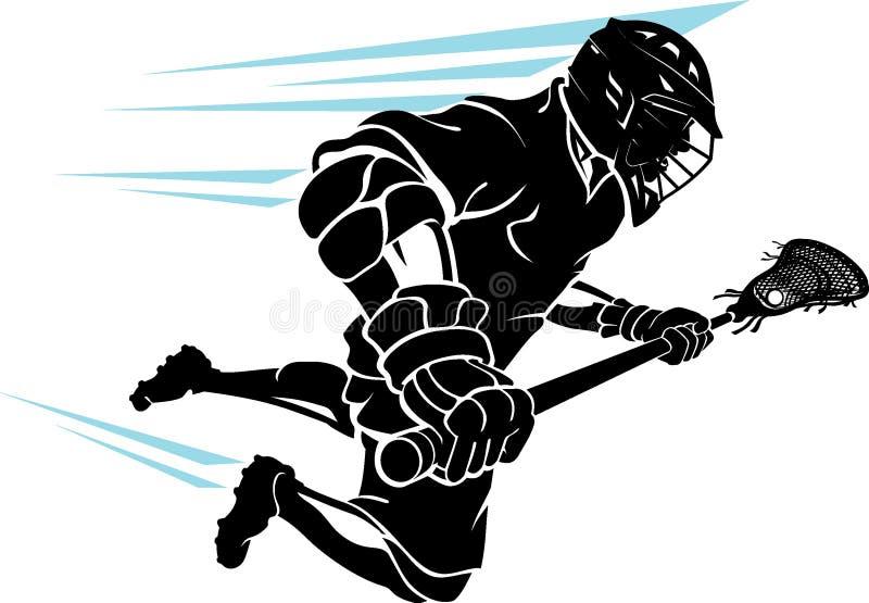 Lacrosse Men`s Sport, Super Charge vector illustration