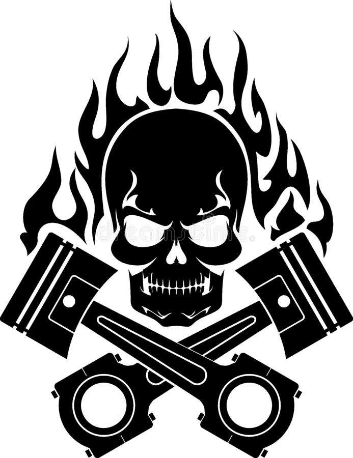 Piston Skull Stock Illustrations – 884 Piston Skull Stock ...