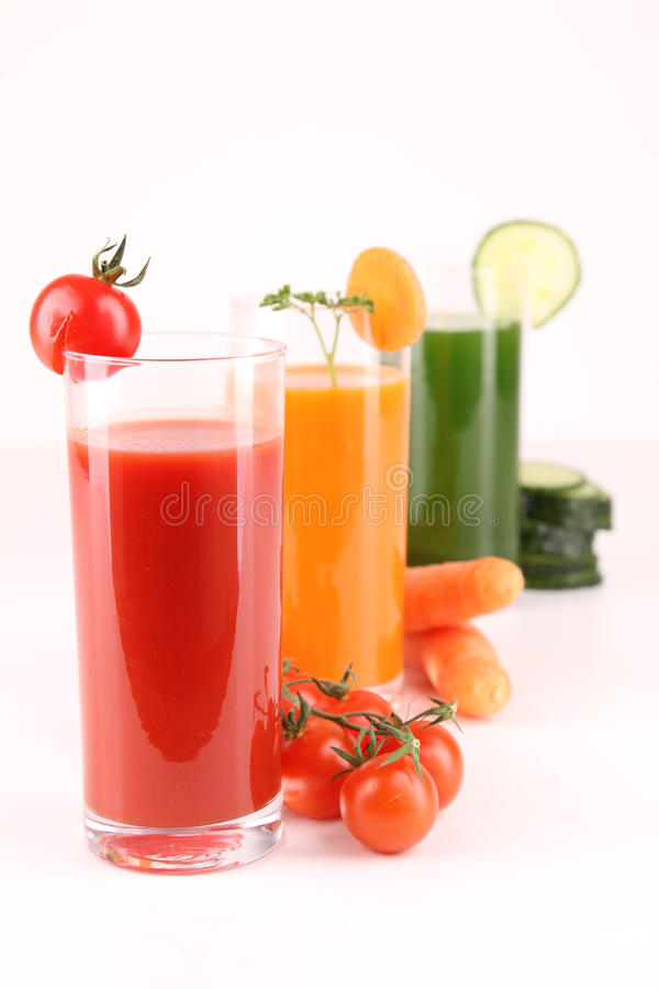 Isolated vegetables cocktail stock photo