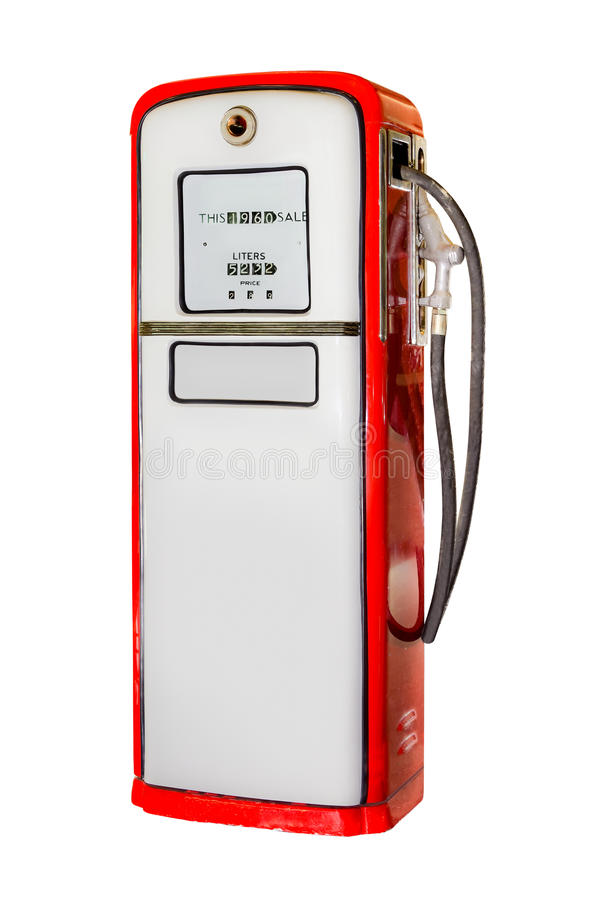 Isolated Vintage Gas Station royalty free stock image