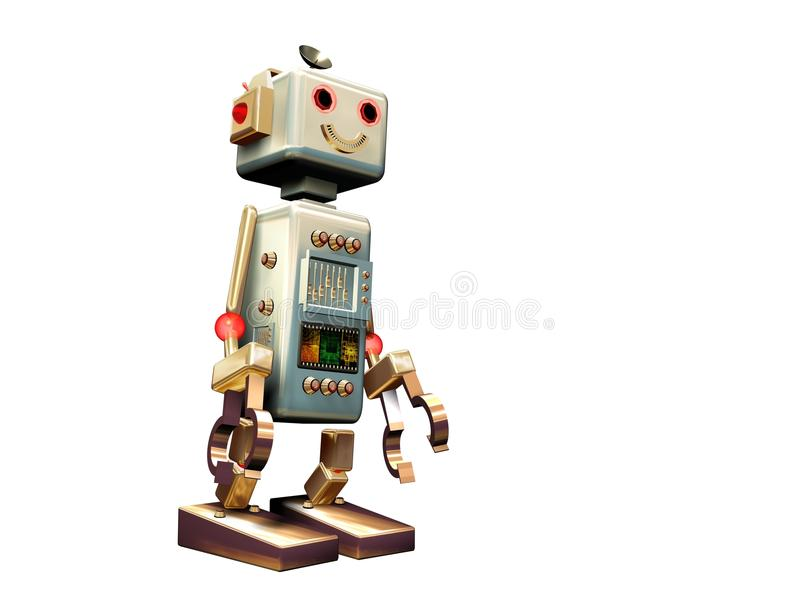 Download Isolated Vintage Robot Royalty Free Stock Photo - Image: 10590365