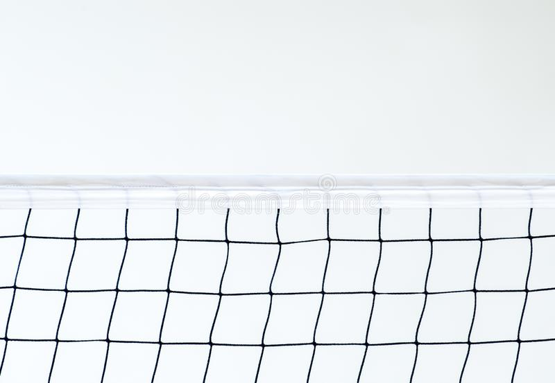 Isolated Volleyball Net on the beach background, Sport Activity in Summer Holiday.  royalty free stock photo