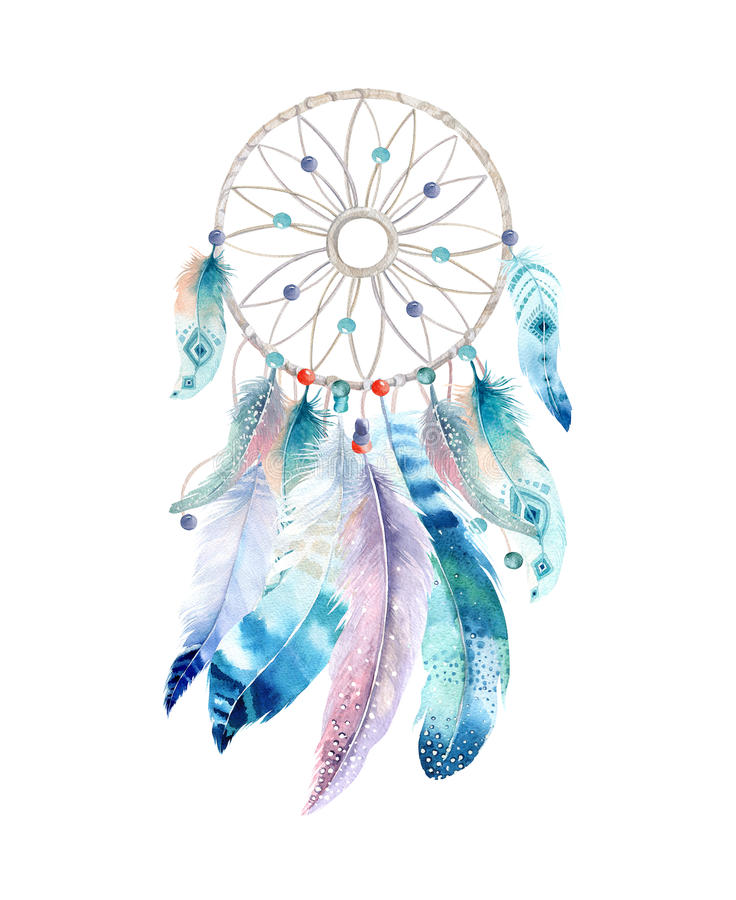 isolated watercolor decoration bohemian dreamcatcher boho native american vector png native american vector