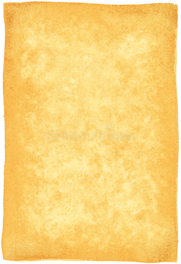Watercolor Parchment Paper (Highres) royalty free stock photo