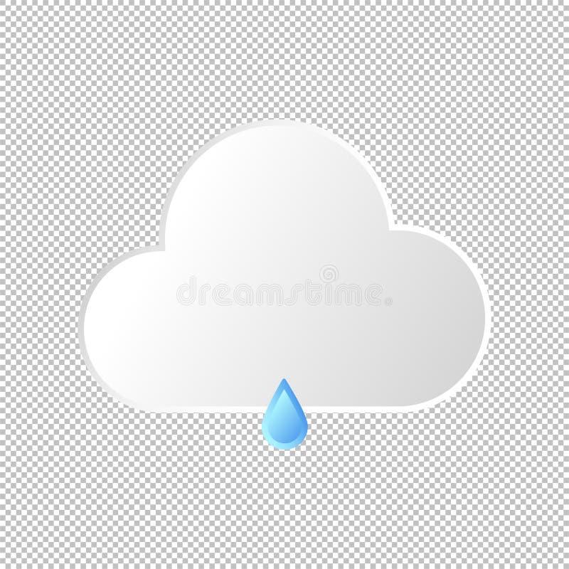 Isolated weather icon. Vector Illustration. Isolated weather icon. Rain element on transparent background. Vector Illustration. Rainy in day and night royalty free illustration