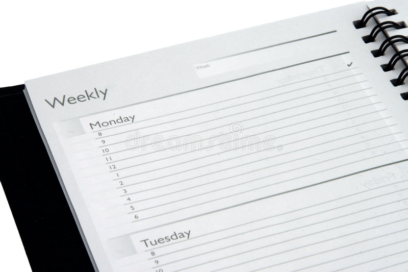 Download Isolated Weekly Planner stock image. Image of days, business - 4612259