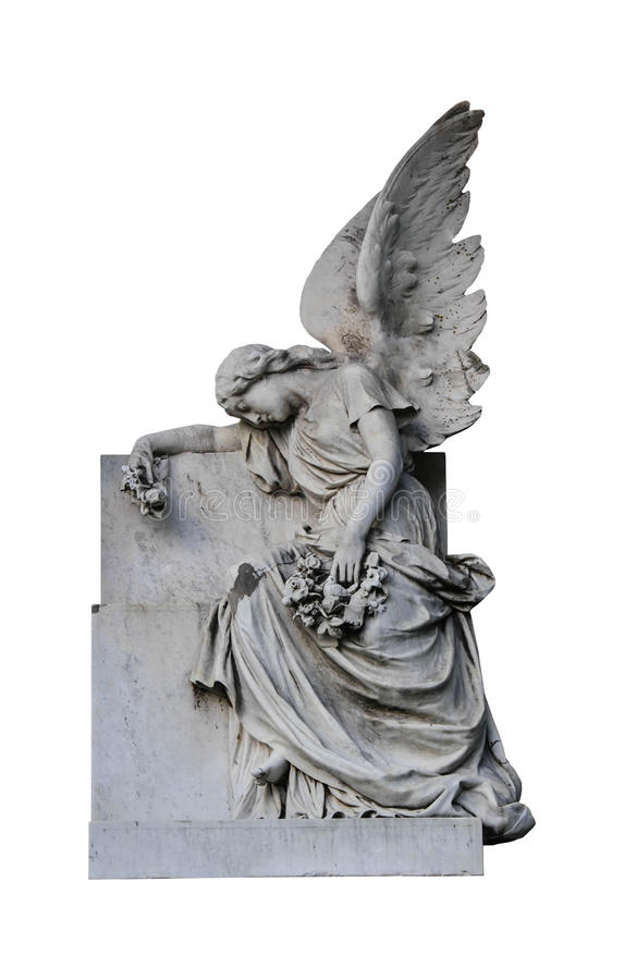 Isolated Weeping Angel royalty free stock photo