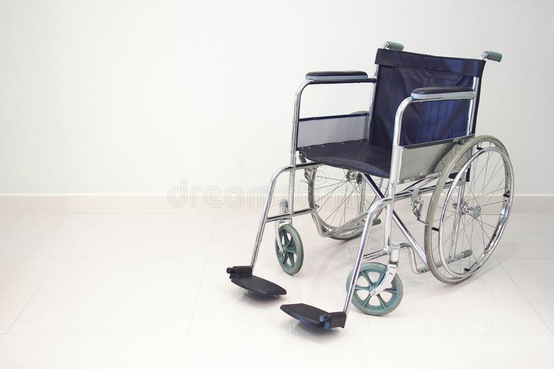 Isolated wheelchair on white background royalty free stock photography