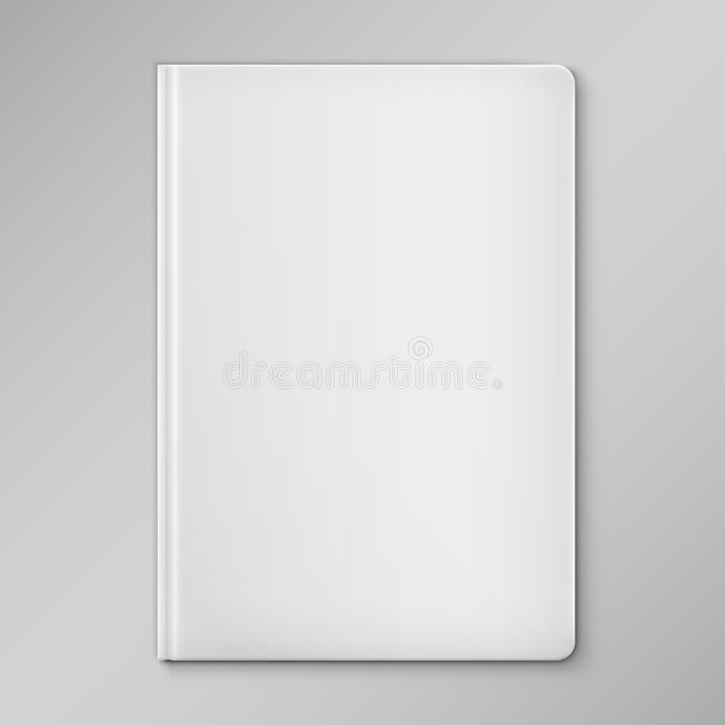 Blank Book Cover Vector Illustration Free : Isolated white blank book cover stock vector image
