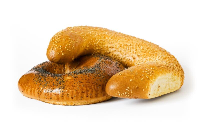 Isolated white bread stock photos