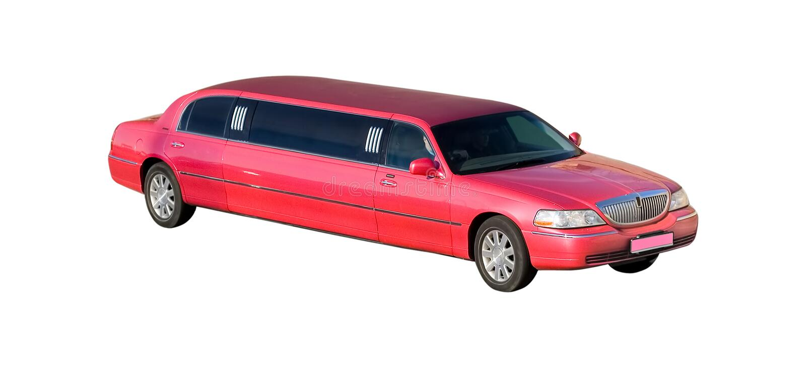 Isolated on white wedding modern limo royalty free stock photography