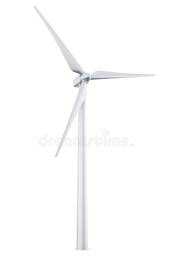 Isolated Wind Turbine Royalty Free Stock Images