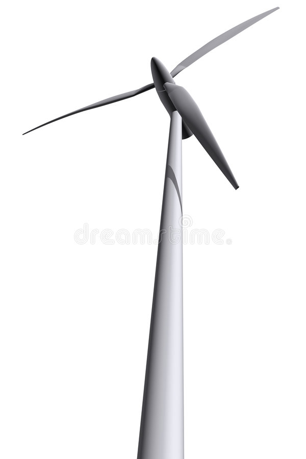 Isolated wind turbines 2 royalty free illustration