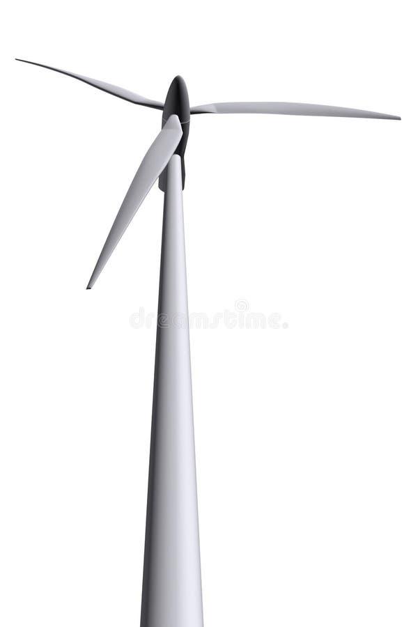 Isolated wind turbines royalty free stock photos