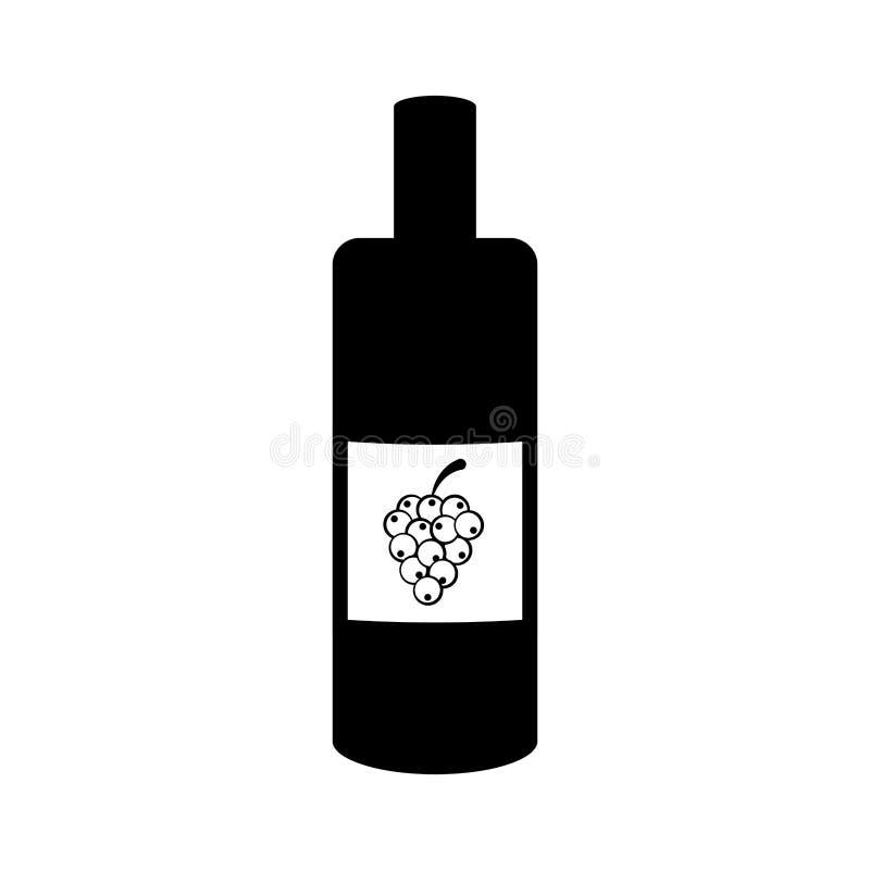 Isolated wine bottle icon vector illustration