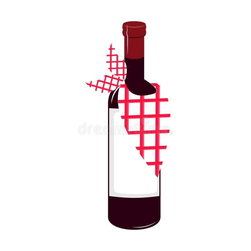 Isolated wine bottle icon stock illustration
