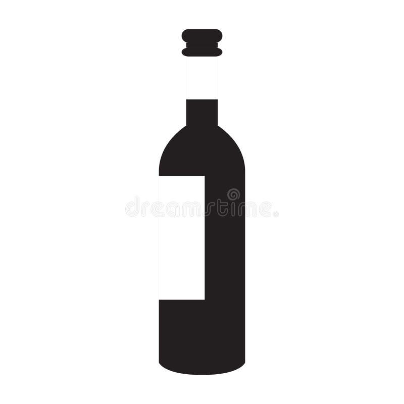 Isolated wine bottle royalty free illustration