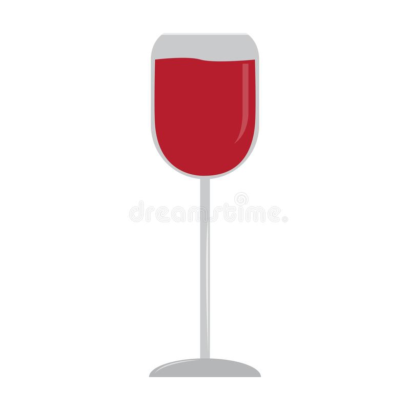 Isolated wine cup vector illustration