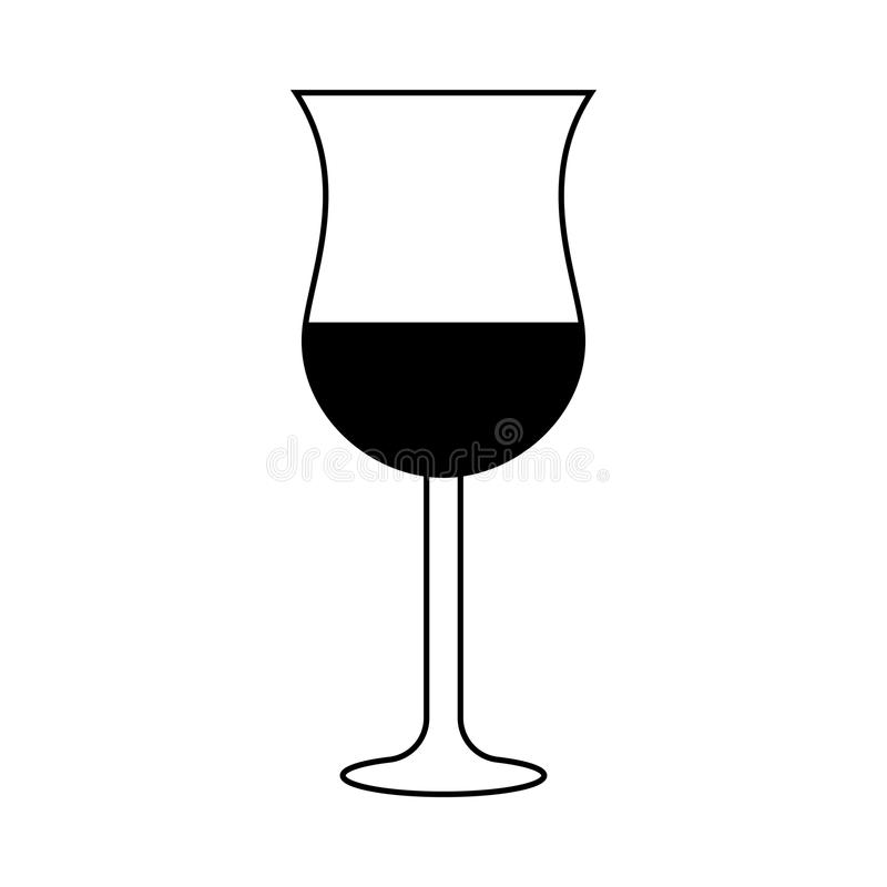 Isolated wine glass vector illustration