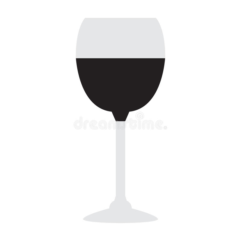 Isolated wine glass royalty free illustration