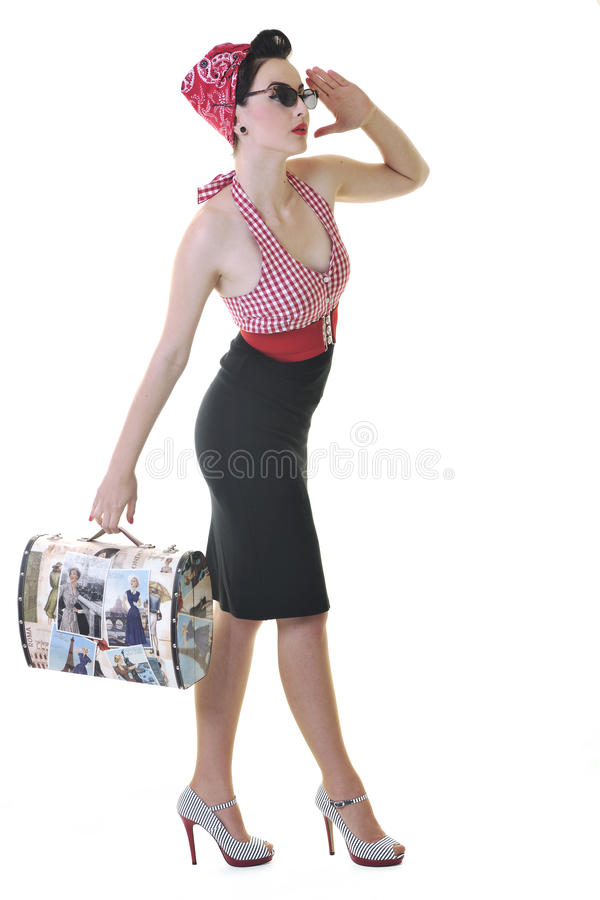 Download Isolated Woman With Travel Bag Stock Photos - Image: 14703313