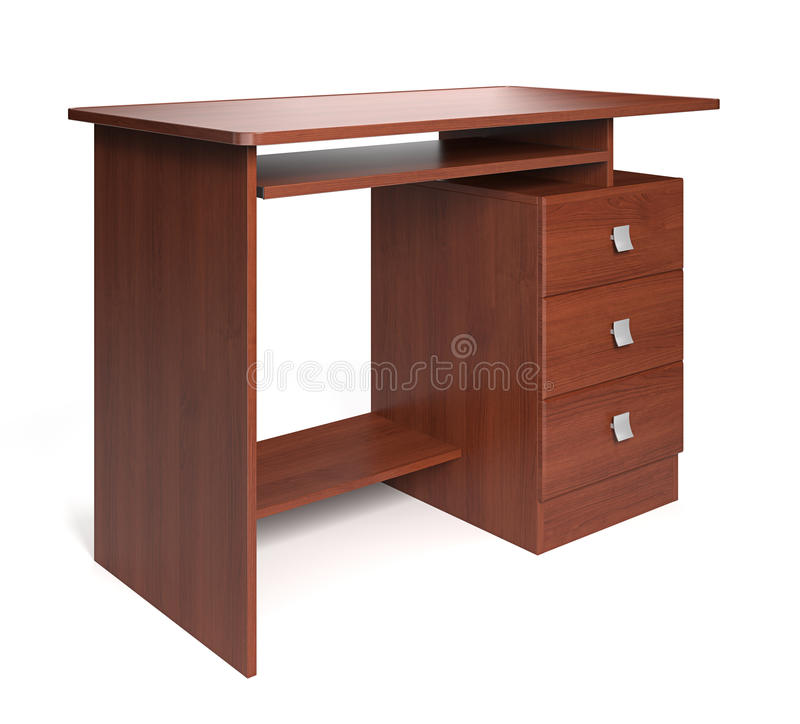 Free Isolated Wood Desk. Stock Image - 19297741