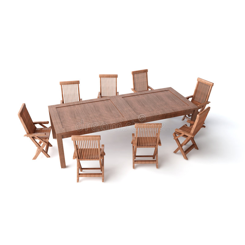 Isolated wood TABLE