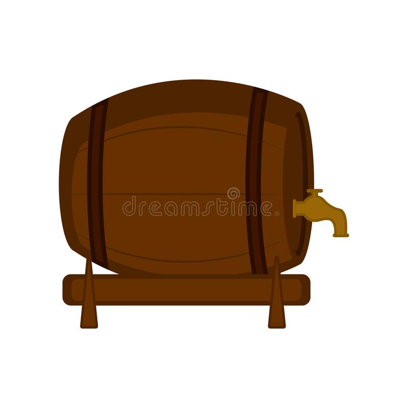 Isolated wooden beer barrel icon. Vector illustration design vector illustration