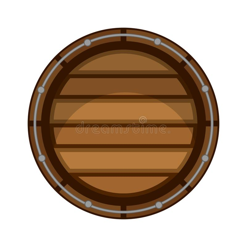 Isolated wooden beer barrel icon. Vector illustration design royalty free illustration