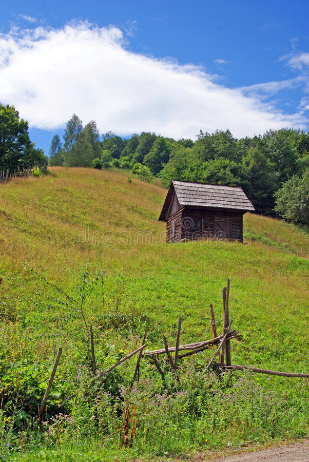 Isolated wooden house stock images