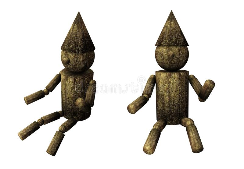 Download Isolated Wooden Puppet Royalty Free Stock Photography - Image: 21152047
