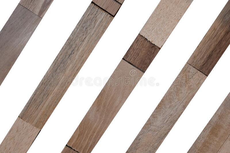Wooden wallpeper on white background. Isolated Wooden wallpeper on white background with clipping path royalty free stock photos