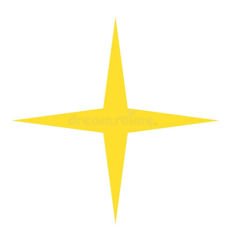Isolated Yellow Gold Star Icon Ranking Mark Stock Vector