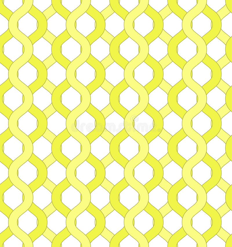 Isolated yellow net and chain seamless pattern. Yellow grid pattern to hide object visible through it for covers, backgrounds, banners, textile, wallpapers vector illustration