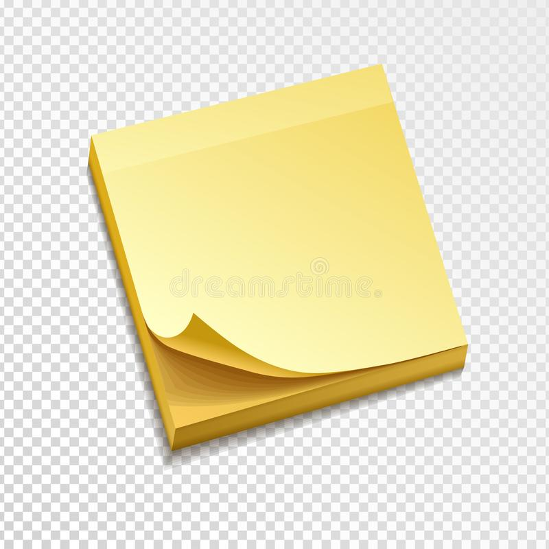 Isolated Yellow Sticky Notes Vector Illustration Stock Vector