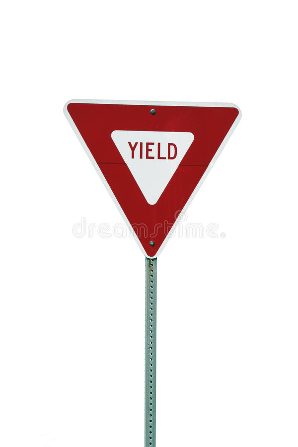 Isolated yield sign royalty free stock image