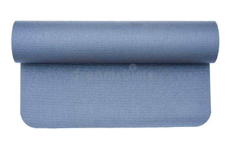 Isolated yoga mat stock photography