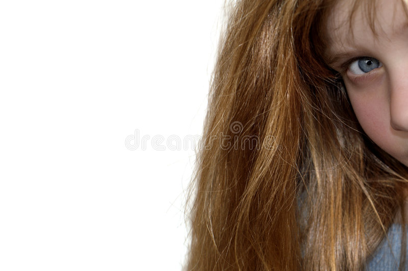 Isolated Young Girl Royalty Free Stock Photography