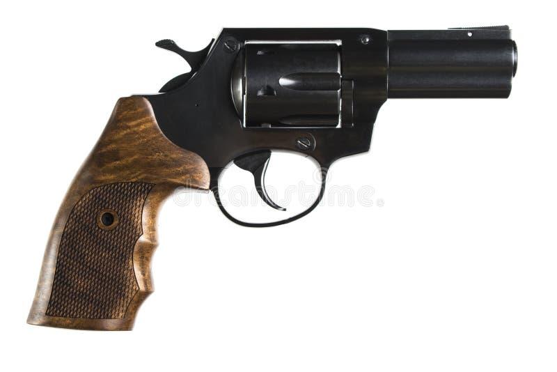 Isolatedon do revólver um fundo branco fotos de stock