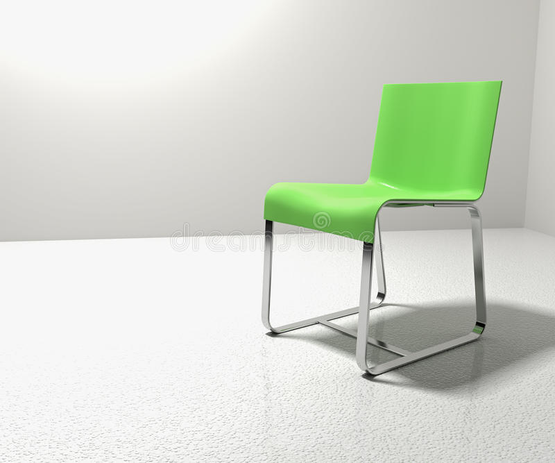 Download Isolation Chair stock illustration. Image of living, green - 22067418