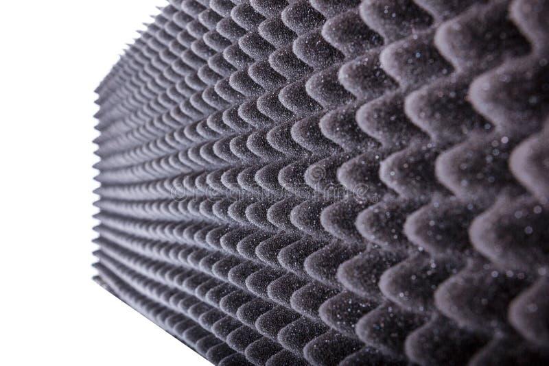 Isolation de Microfiber pour le bruit dans le studio de musique ou le hall acoustique images libres de droits