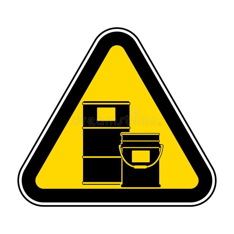 Isolato chimico di simbolo di deposito su fondo bianco, illustrazione ENV di vettore 10 illustrazione di stock