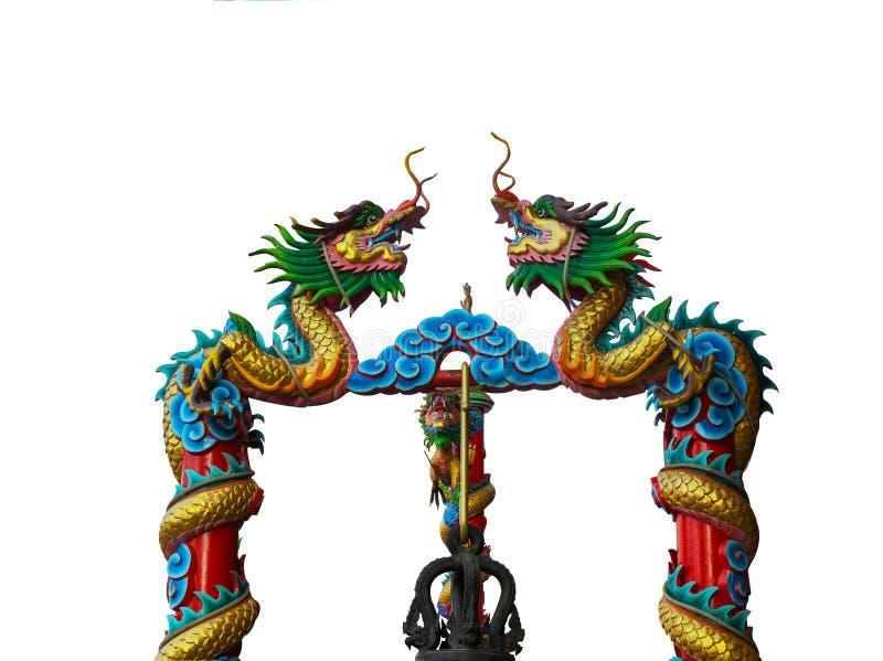 Isolato del drago a Wat Thamai, la Tailandia (luogo pubblico) fotografie stock libere da diritti