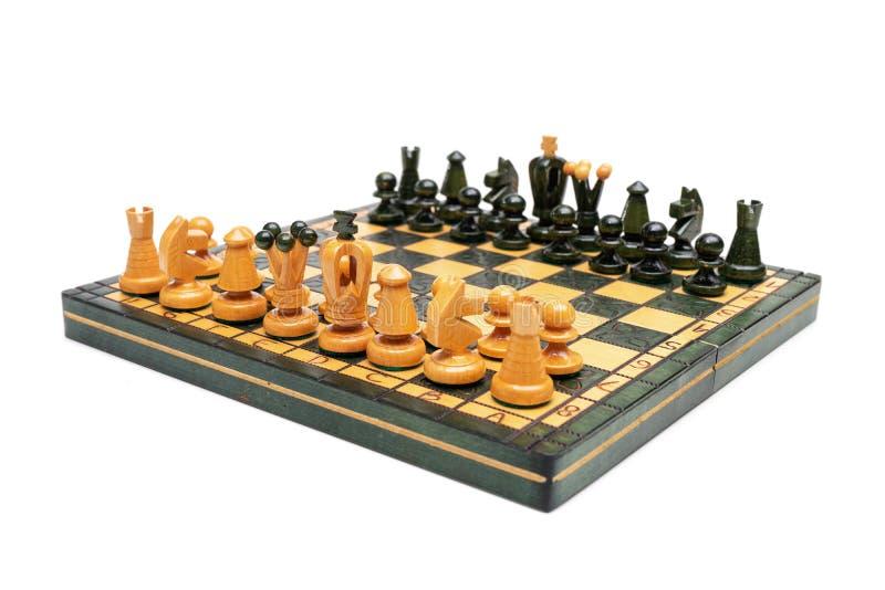 Isolato del gioco di scacchiera su fondo bianco fotografia stock
