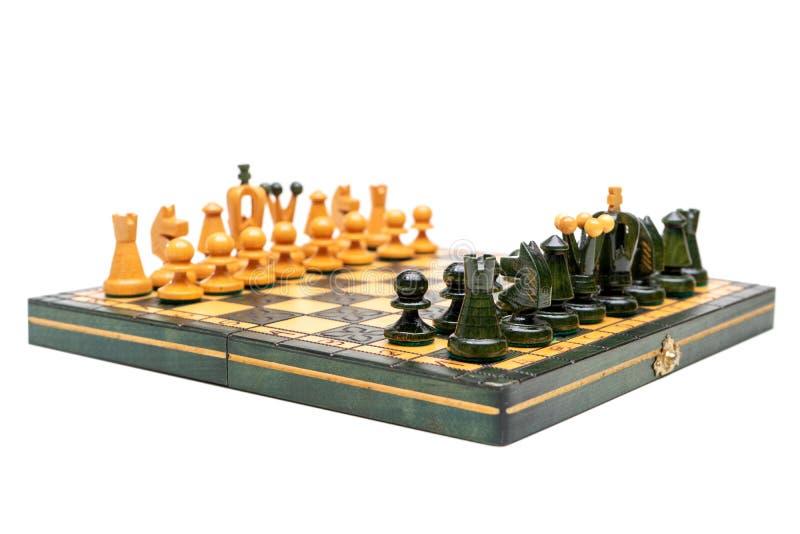 Isolato del gioco di scacchiera su fondo bianco immagine stock