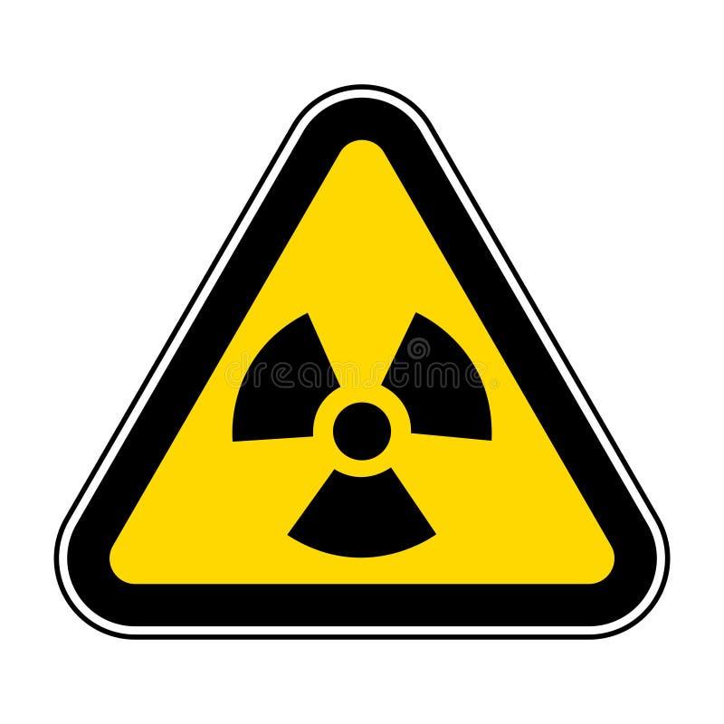 Isolato del segno di simbolo di rischio di radiazione su fondo bianco, illustrazione ENV di vettore 10 illustrazione di stock