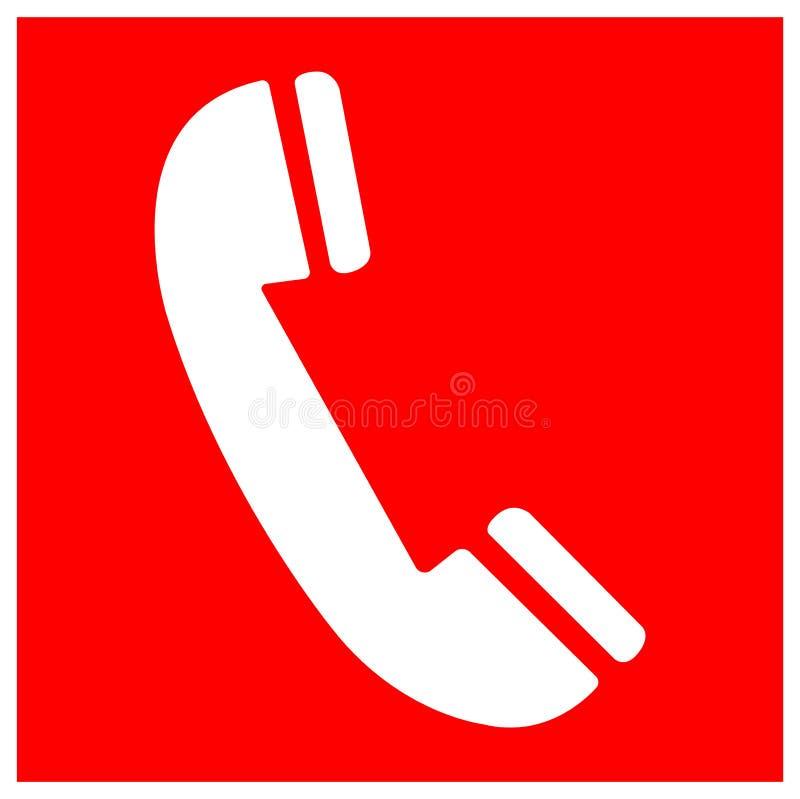 Isolato del segno di simbolo del telefono del fuoco su fondo bianco, illustrazione ENV di vettore 10 illustrazione di stock