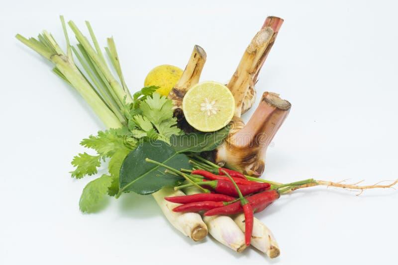 Isolato del vegetale e della citronella su fondo bianco immagine stock